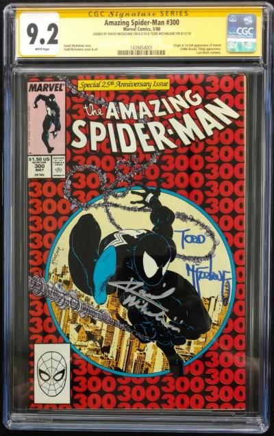 Amazing Spider-Man #300 CGC Signature Series 9.2 McFarlane Michelinie 1439454001