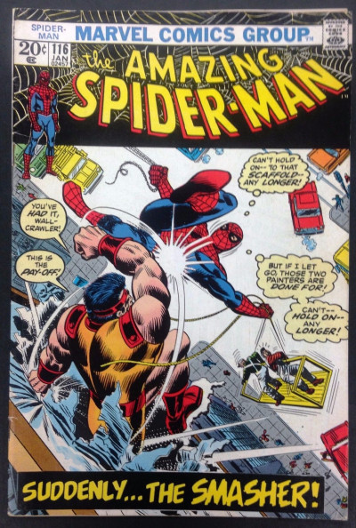 Amazing Spider-Man (1963) #116 FN+ (6.5) vs The Smasher