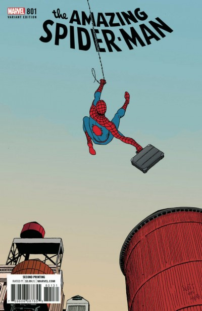 Amazing Spider-Man (2015) #801 VF/NM 2nd Printing variant Cover