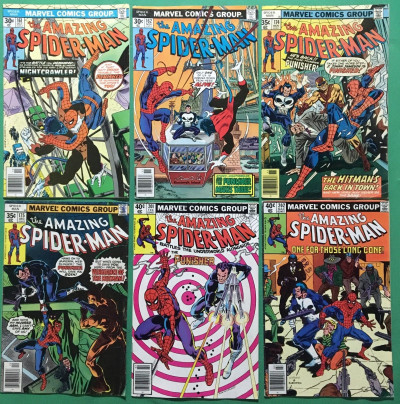 Amazing Spider-Man (1963) 161 162 174 175 201 202 early Punisher app 1st Jigsaw