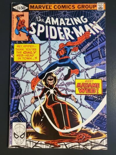 Amazing Spider-Man #210 1980 VG/F 5.0 1st app. Madame Web moisture damage|