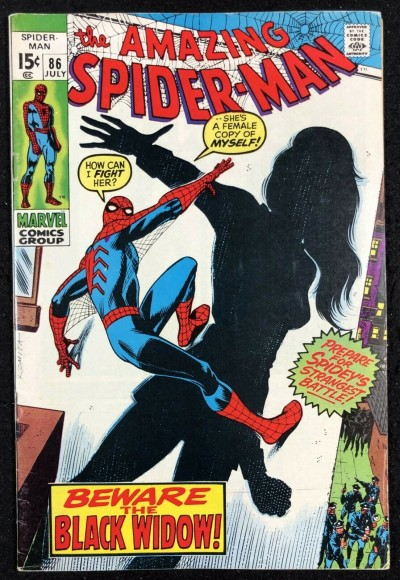 Amazing Spider-Man (1963) #86 FN+ (6.5) 1st New Look Sexy Black Widow