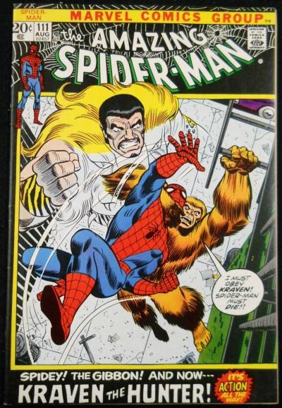 AMAZING SPIDER-MAN #111 VF- KRAVEN THE HUNTER