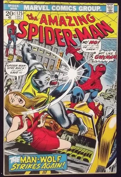 AMAZING SPIDER-MAN #125 FN/VF 2ND APPEARANCE MAN-WOLF ORIGIN