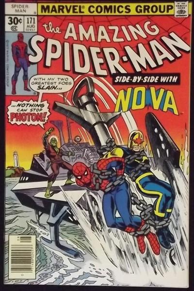 AMAZING SPIDER-MAN #171 VF/NM EARLY NOVA CROSSOVER