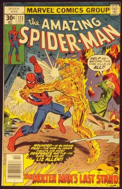 AMAZING SPIDER-MAN #173 VF- VS MOLTEN MAN