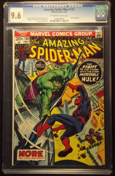 AMAZING SPIDER-MAN (1963) #120 CGC GRADED 9.6 INCREDIBLE HULK APPEARANCE