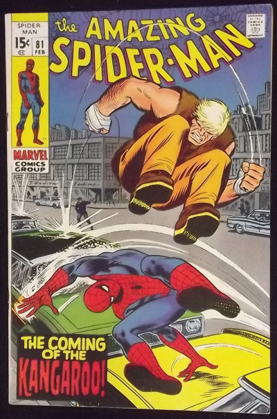 AMAZING SPIDER-MAN #81 FN/VF 1ST APPEARANCE KANGAROO