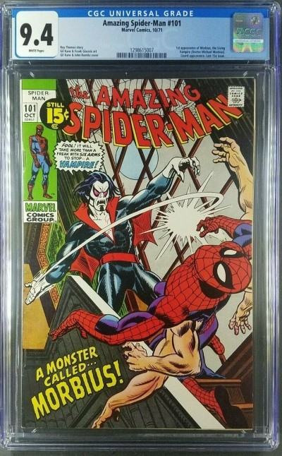 AMAZING SPIDER-MAN (1971) #101 CGC 9.4 WHITE 1st app MORBIUS (1298615007)|