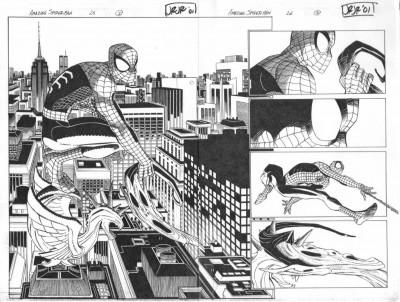 Amazing Spider-man (1999) #26 pgs 2 & 3 DPS John Romita Jr Original Art Movie