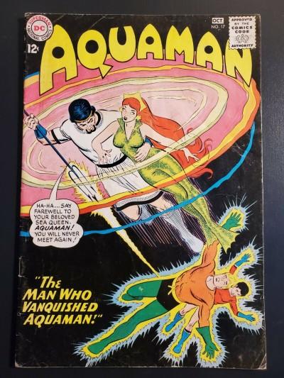 Aquaman 17 (1964) VG 3.5 Mera cover! Aqualad Jack Miller & Nick Cardy |