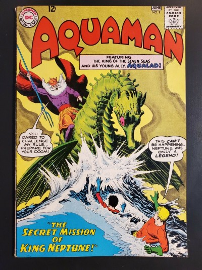 Aquaman #9 (1963) F/VF (7.0) High grade The Secret Mission of King Neptune |