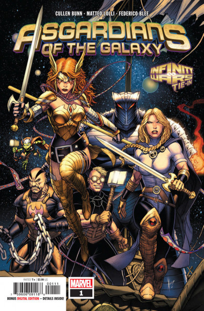 Asgardians of the Galaxy (2018) #1 VF/NM Dale Keown Cover
