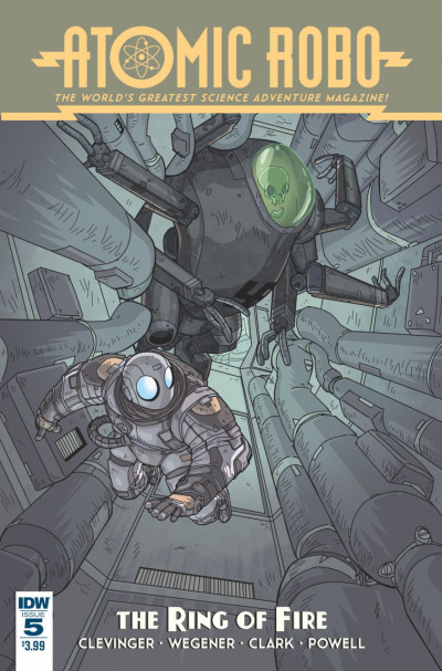 ATOMIC ROBO AND THE RING OF FIRE (2015) #5 FN/VF - VF IDW