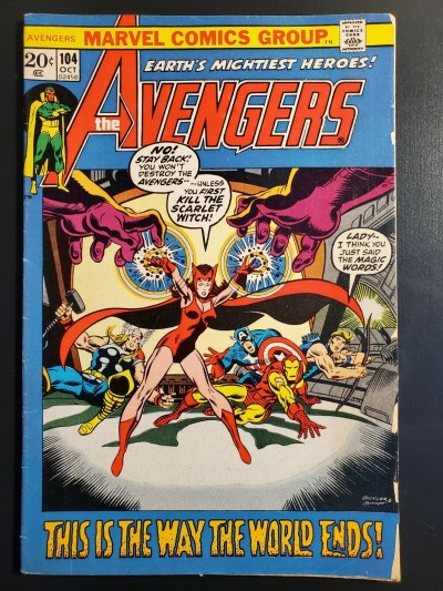 Avengers #104 (1972) VG/F (5.0) Scarlet Witch picture frame cover |