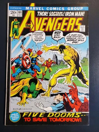 Avengers #101 (1972) F/VF 7.0 Harlan Ellison script|