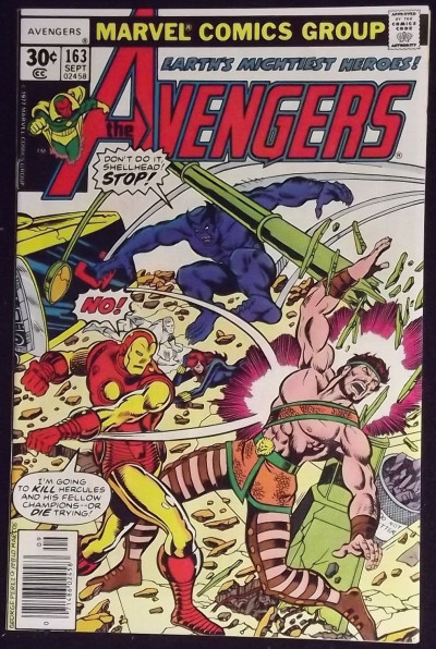 AVENGERS #163 NM CHAMPION APPEARANCE GEORGE PEREZ COVER GEORGE TUSKA ART