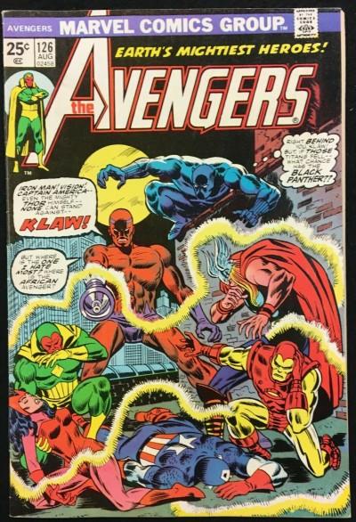 Avengers (1963) #126 FN/VF (7.0) vs Klaw