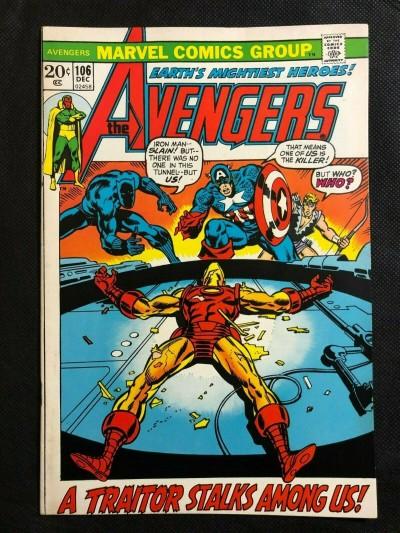 Avengers (1963) #106 FN/VF (7.0) Rich Buckler