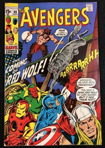 Avengers (1963) #80 FN+ (6.5) 1st app Red Wolf