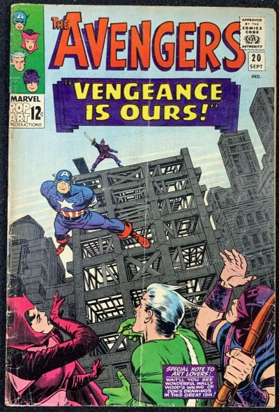 Avengers (1963) #20 VG (4.0) Intro Power Man (Erik Josten)