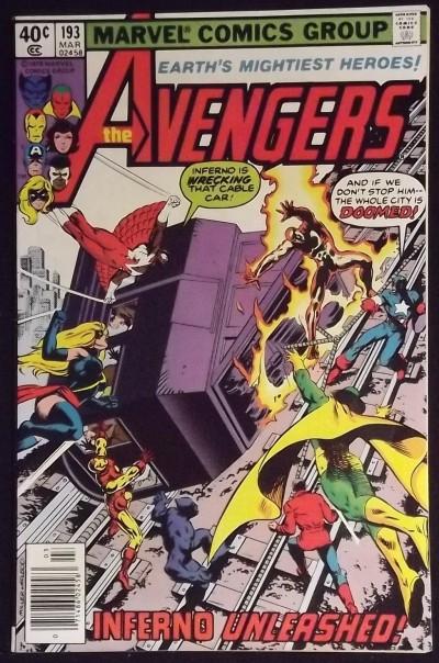 AVENGERS #193 VF FRANK MILLER COVER