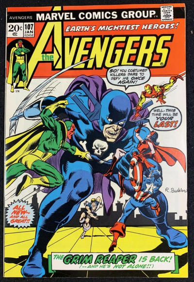 Avengers (1963) #107 VF (8.0) return of the Grim Reaper Jim Starlin art
