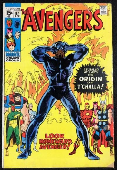Avengers (1963) #87 VG/FN (5.0) Origin Black Panther