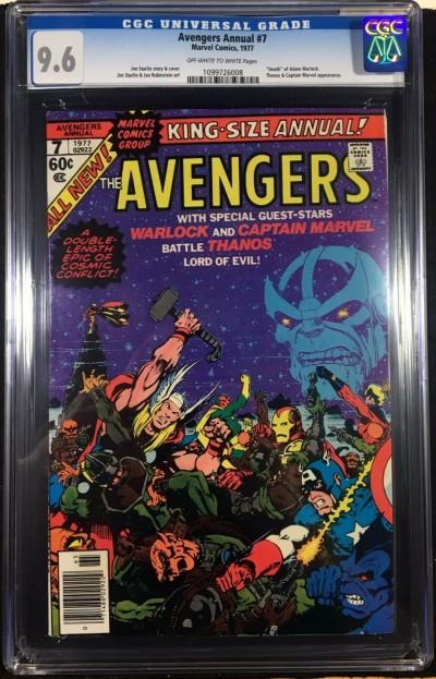 Avengers (1977) Annual #7 CGC 9.6 Death of Adam Warlock Thanos app (1099726008)
