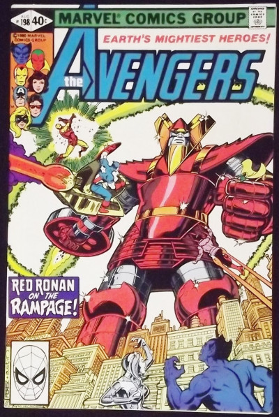 AVENGERS #198 VF+ GEORGE PEREZ COVER AND ART RED RONAN