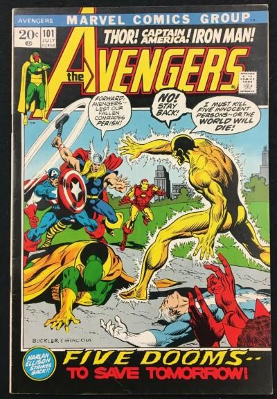 Avengers (1963) #101 FN/VF (7.0) Harlan Ellison story