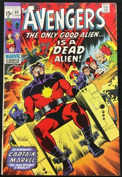 Avengers (1963) #89 (7.5) Kree-Skrull War part 1/9 Captain Marvel electric chair
