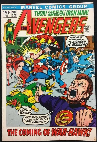 Avengers (1963) 98 FN+ (6.5) Barry Smith cover & art