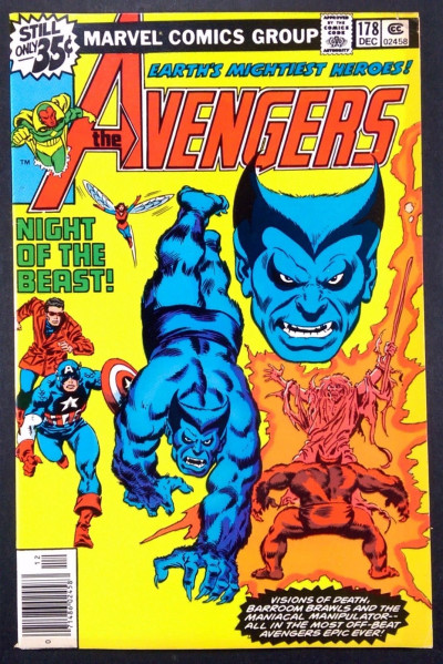 Avengers (1963) #178 FN/VF (7.0) Beast cover