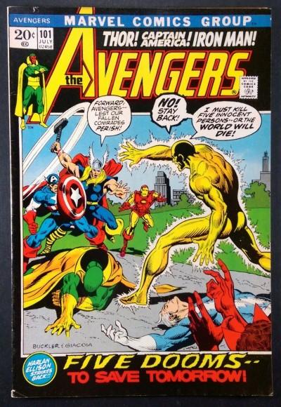 Avengers (1963) #101 FN/VF (7.0) Harlan Elison story