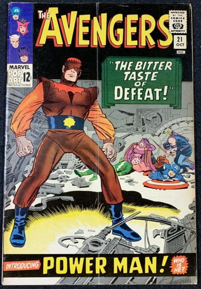 Avengers (1963) #21 VG (4.0) 1st full app Power Man (Erik Josten)