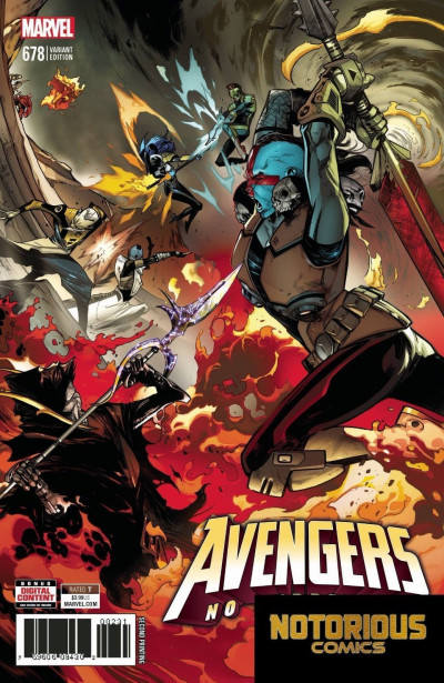 Avengers (2016) #678 VF/NM 2nd Printing Connecting Variant Cover