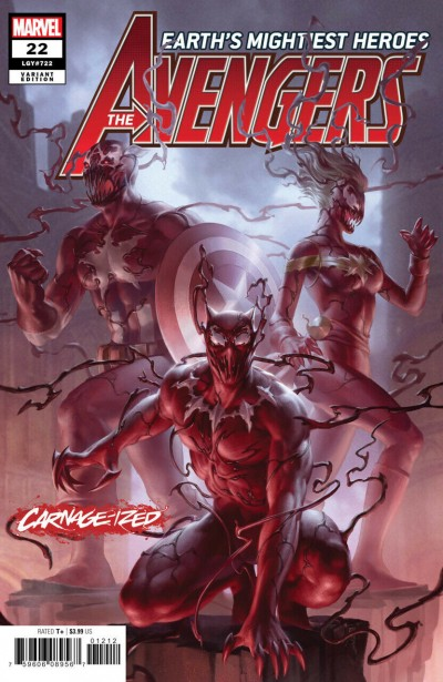 Avengers (2018) #22 (#722) VF/NM Jung-Geun Yoon Carnage-ized Variant Cover