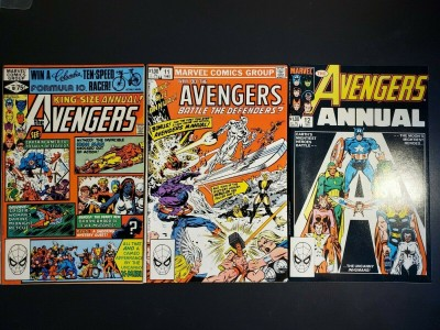 Avengers Annual #10, 11, 12 VF, VF, NM set 1st Appearance of Rogue Claremont  