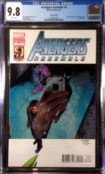 Avengers Assemble (2012) #4 CGC 9.8 Amazing Spider-Man 50th Variant (1400651024)
