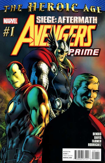 AVENGERS PRIME (2010) #1 VF/NM 1ST PRINTING SIEGE: AFTERMATH HEROIC AGE