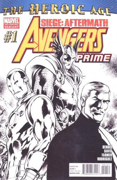 AVENGERS PRIME (2010) #1 VF/NM 3RD PRINTING SKETCH COVER SIEGE: AFTERMATH HEROIC
