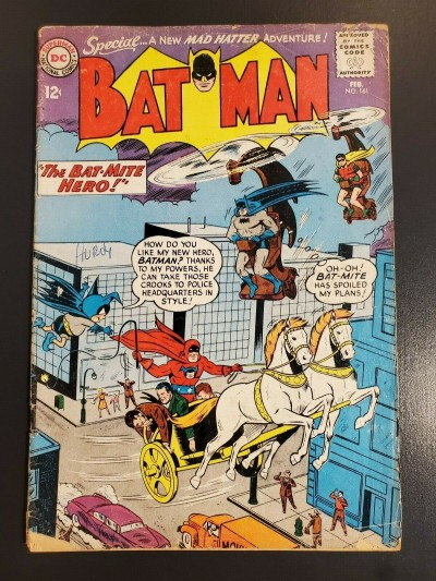 Batman #161 (1964) DC Comics G 2.0 Bat-Mite Hero Mad Hatter Sheldon Moldoff 