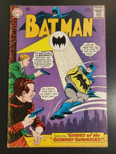 Batman #170 (1965) DC Comics VG- (3.5) Infantino Sheldon Moldoff 