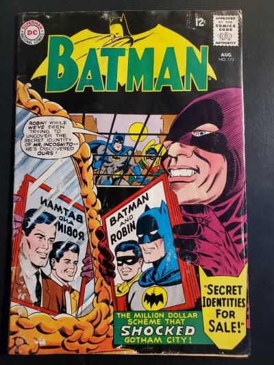 BATMAN #173 G (2.0) LOW GRADE SECRET IDENTITIES FOR SALE 