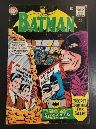 Batman #173 (1965) DC Comics VG- 3.5 Infantino Sheldon Moldoff 