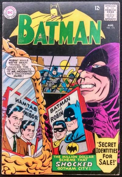 """BATMAN #173 VG/FN ROBIN """"SECRET IDENTITIES FOR SALE"""""""