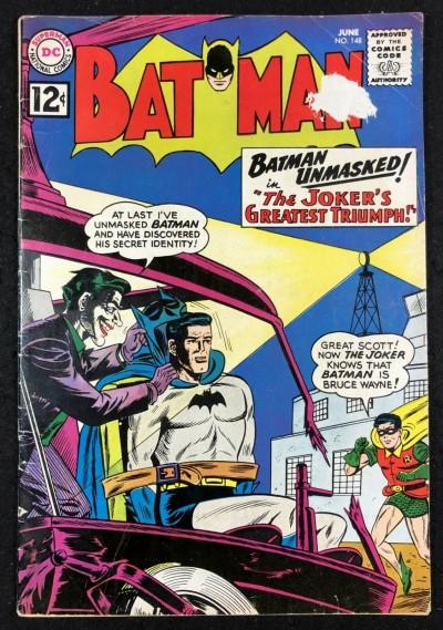Batman (1940) #148 VG- (3.5) and Robin Joker cover
