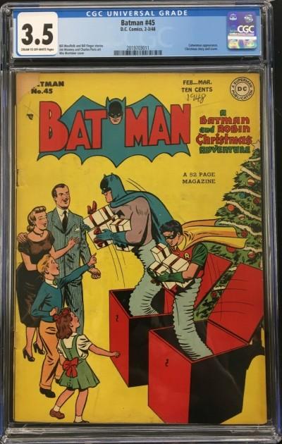 Batman (1940) #45 CGC 3.5 Catwoman app Christmas cover & story (2019703011)