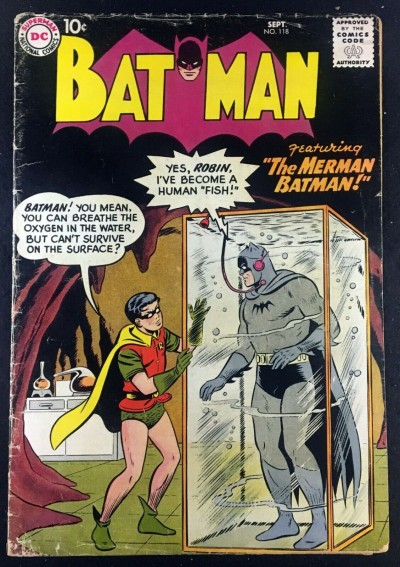Batman (1940) #118 GD/VG (3.0) with Robin The Merman Batman